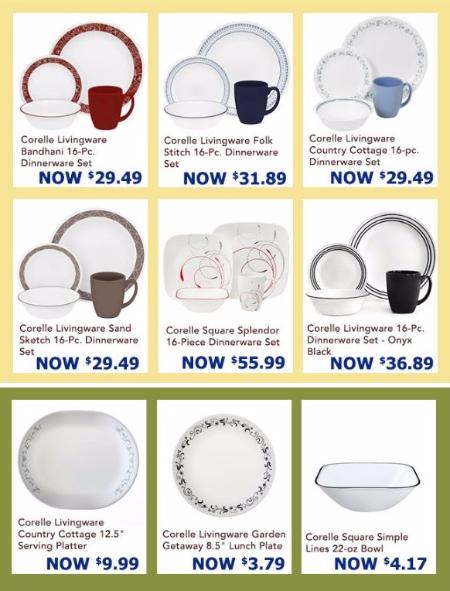 Corelle Dinnerware Sets & Open Stock as Low as $3.79