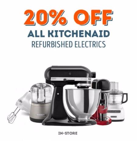 20% Off All KitchenAid Refurbished Electrics
