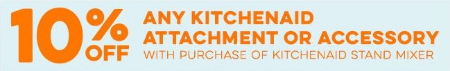 10% Off Any KitchenAid Attachment or Accessory