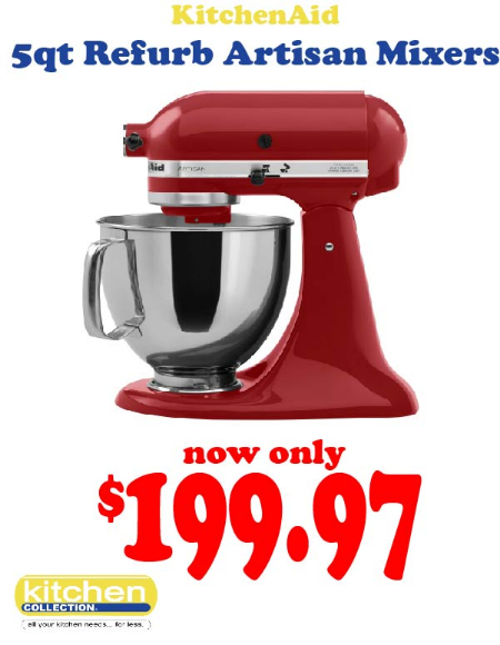 Medford Outlet Center Refurbished Kitchenaid Mixers