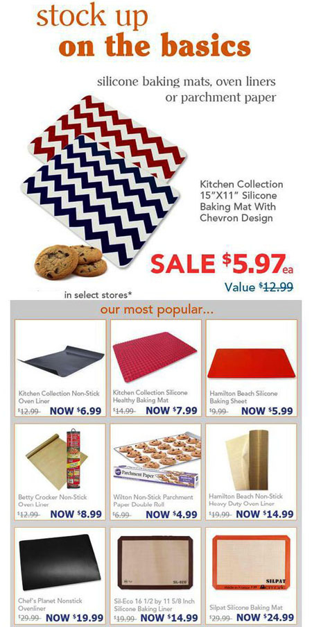 Stock Up On The Basics at Kitchen Collection