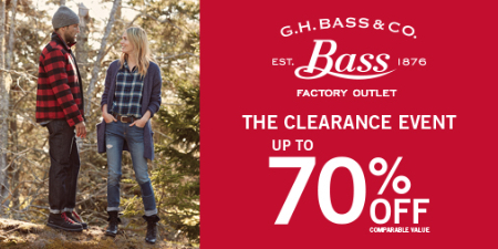 THE CLEARANCE EVENT UP TO 70% OFF!