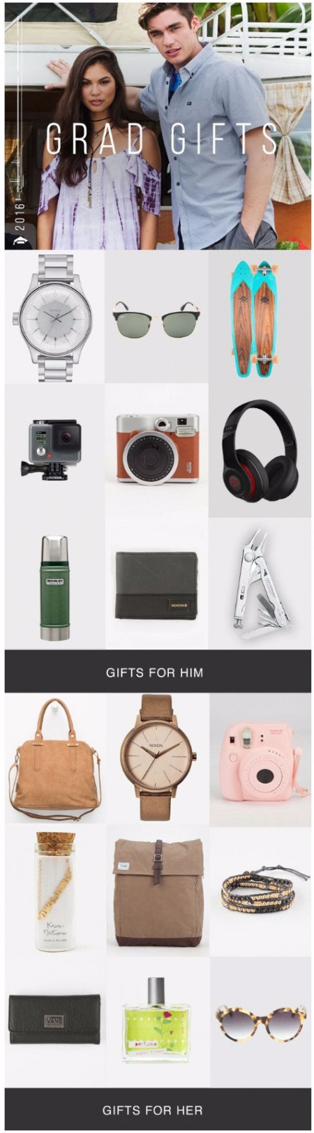 Grad Gifts for Him and Her