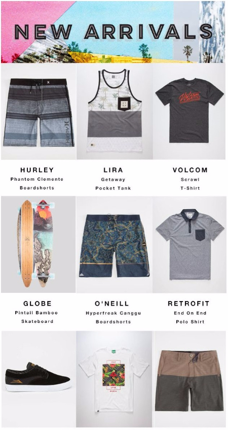 New Arrivals from Vans, RVCA, Hurley, Volcom, LRG, Globe and More