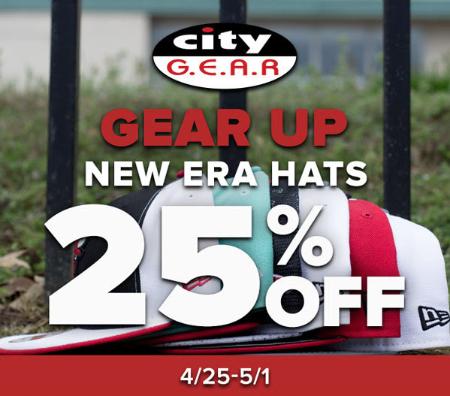 25% Off New Era Hats