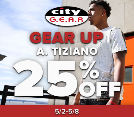 25% Off Gear Up A. Tiziano