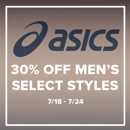 30% Off Men's Select Asics