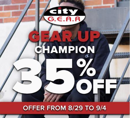 35% Off Champion