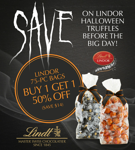 Save On LINDOR Halloween Truffles Before The Big Day!