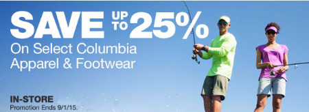 Up to 25% Off Select Columbia Apparel & Footwear at Gander Mountain