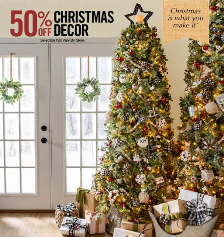 hobby lobby 50 off christmas decor
