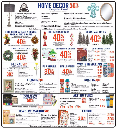 stop by and shop our weekly specials and enjoy great savings on home decor furniture art supplies and more