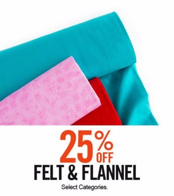 25% Off Felt & Flannel