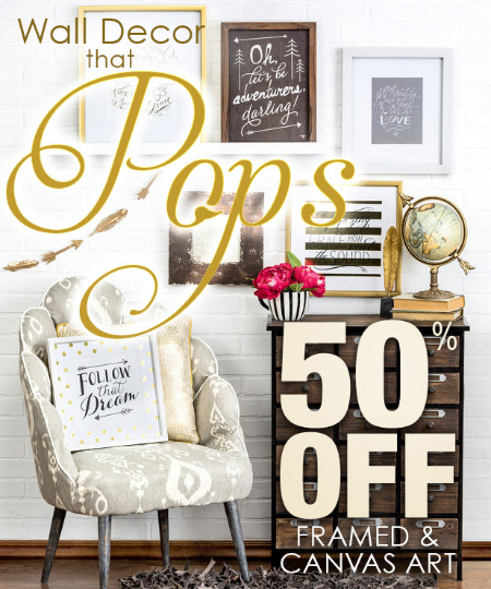 Stop by and take 50 off on framed and canvas art sales subject to