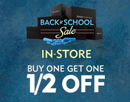 BOGO 50% Off Back to School Sale at Shoe Carnival