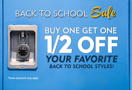 BOGO 1/2 Off Back To School Sale
