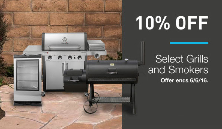 10% Off Select Grills & Smokers