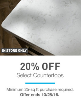20% Off Select Countertops