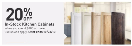 20% Off In Stock Kitchen Cabinets