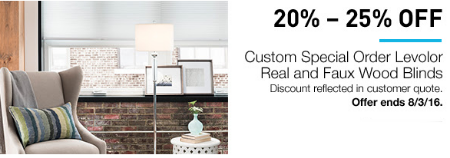 Up to 25% Off Select Blinds
