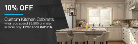 10% Off Custom Kitchen Cabinets
