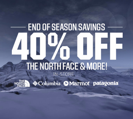 40% Off The North Face & More