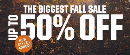 The Biggest Fall Sale