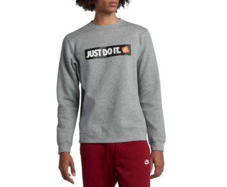 096a31f0f Zona Rosa ::: Nike Men's Sportswear Just Do It Fleece Pullover ...