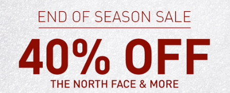 40% Off End Of Season Sale at Dick's Sporting Goods