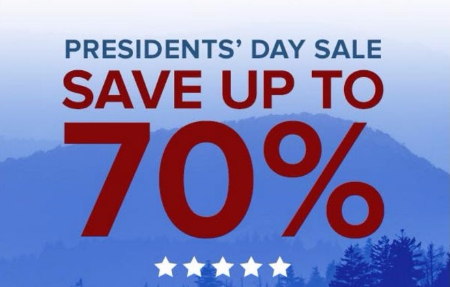President's Day Sale up to 70% Off