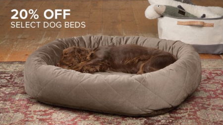 legacy place ::: 20% off select dog beds ::: orvis