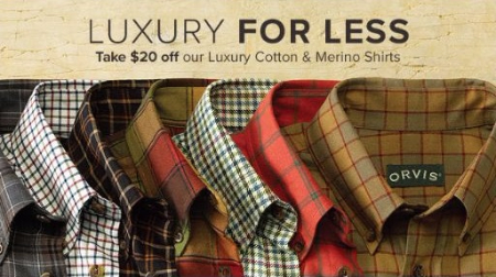 $20 Off Our Luxury Cotton & Merino Shirts