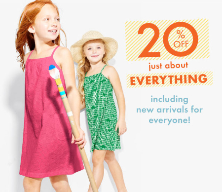 20% Off Just About Everything