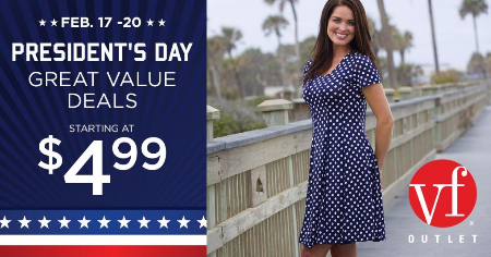 VF Outlet President's Day Sale