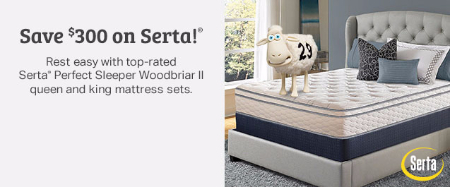 Save $300 on Serta
