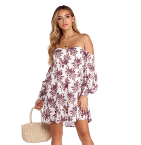 69114016127 Get the digits with this cute tunic that is the perfect mini dress or  endearing blouse! It has a playful