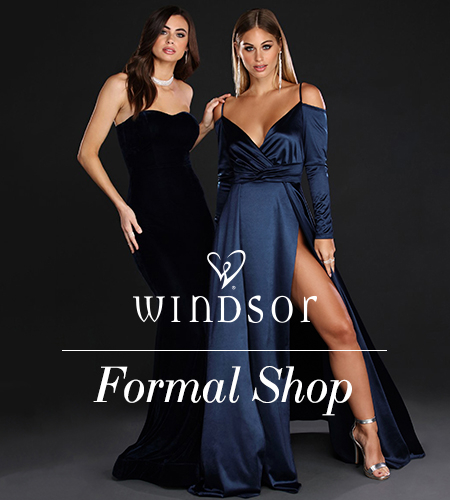 c6ddd1eff80 Shop at Windsor for the perfect special occasion dress. We have many styles  and colors to make you a Winter Wonderland princess!