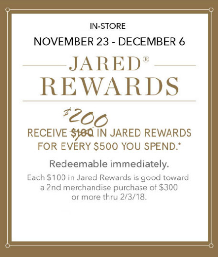 The Shoppes at Chino Hills Jared Rewards at Jared the Galleria of