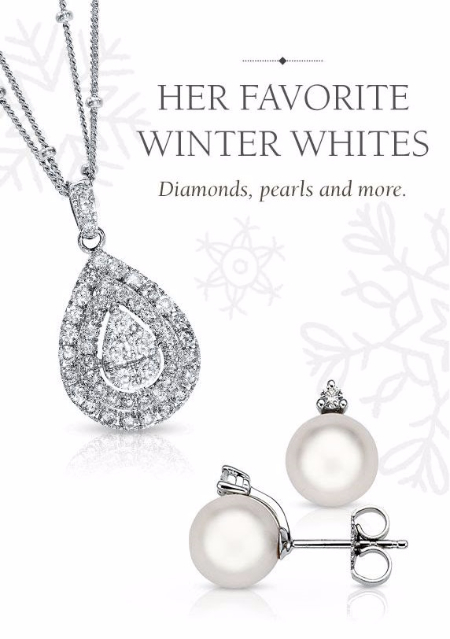 Her Favorite Winter Whites: Diamonds, Pearls and More