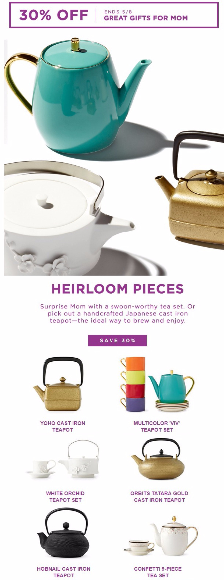30% Off Cast Iron & Tea Sets