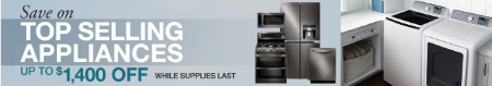 Up to $1,400 Off Top Selling Appliances