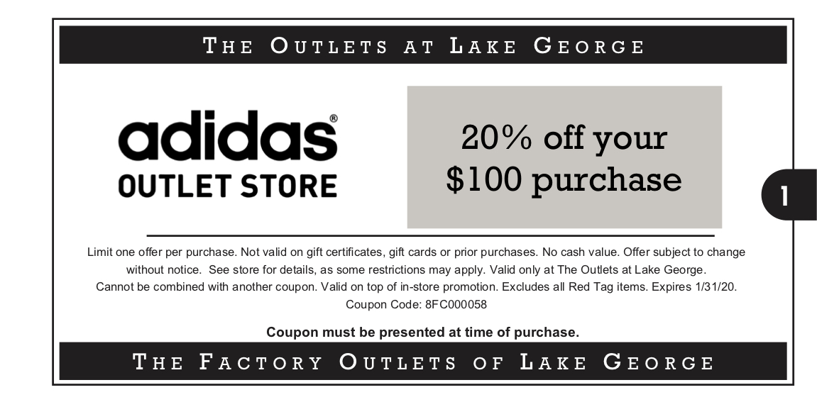 The Outlets at Lake George ::: 20% off your $100 purchase ...