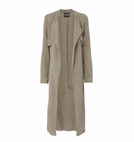 Monrow Long Twill Trench Jacket at INTERMIX