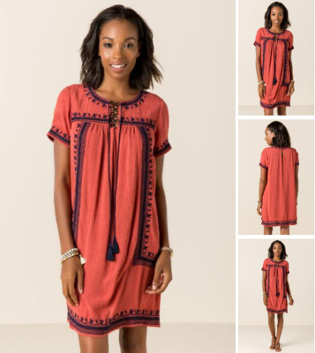 Kierra Embroidered Shift Dress