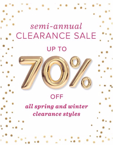 Semi-Annual Clearance Sale up to 70% Off
