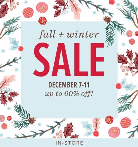 Fall & Winter Sale up to 60% Off