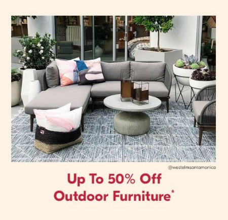 Outdoor Furniture West Elm Intended West Elm Up To 50 Off Outdoor Furniture The Paseo