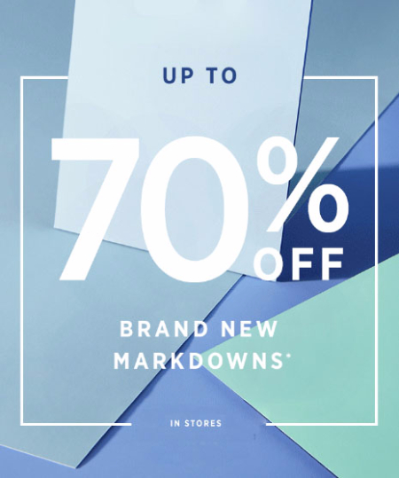 Up to 70% Off New Markdowns at west elm