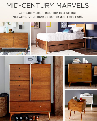 Explore Our Mid-Century Bedroom Collection