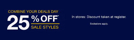 25% Off Sale Styles